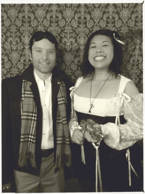 patrick and myself in steampunk garb